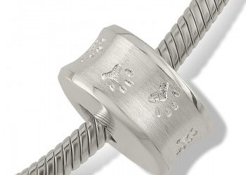 Paw Print Bracelet Bead