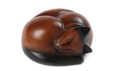 Sleeping Cat Urn