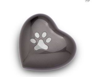 Metallic Heart Urns pet tributes